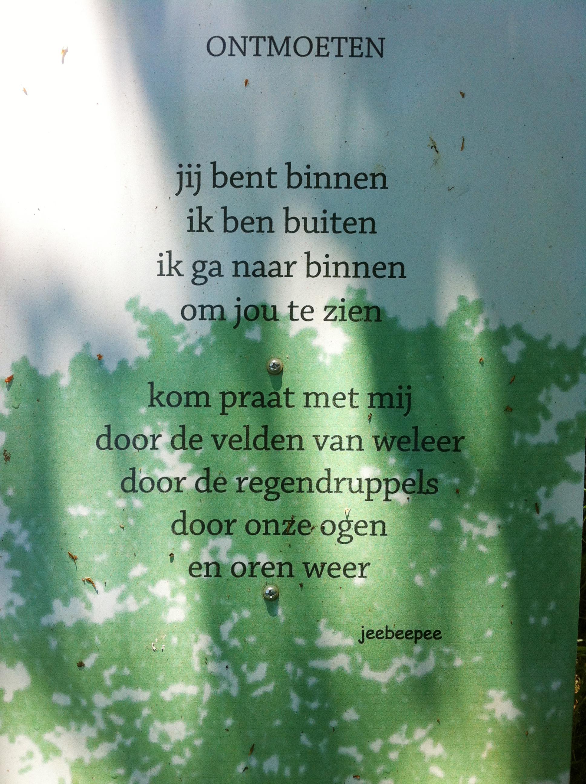Gedichtje Ontmoeten